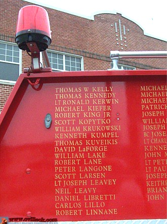 9-11 Memorial Fire Truck -- September 11, 2008