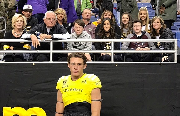 Levi Draper in Army All-American Bowl -- January 7, 2017