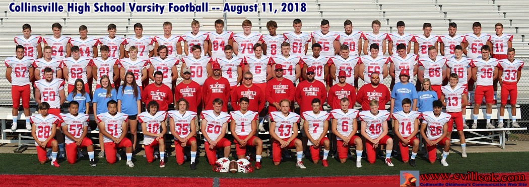 Football Team Photos -- August 11, 2018 -- Collinsville, OK