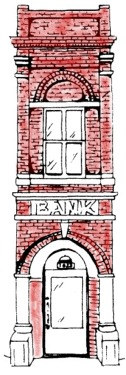 Bank Building Drawing - 11th & Main